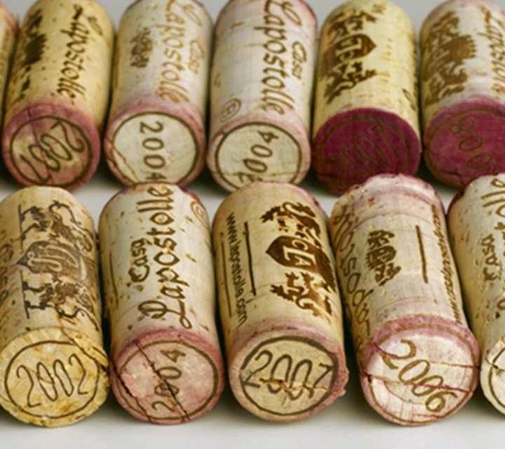 Corks of Carménère Grape Wine in Chile