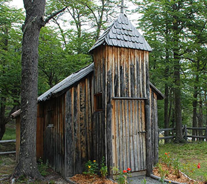 Old wooden building in Patagonia