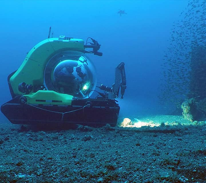 Underwater expedition exploring Galapagos marine life