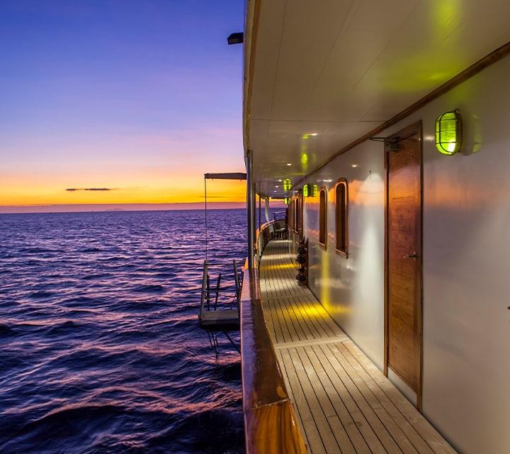 Grace yacht at sunset