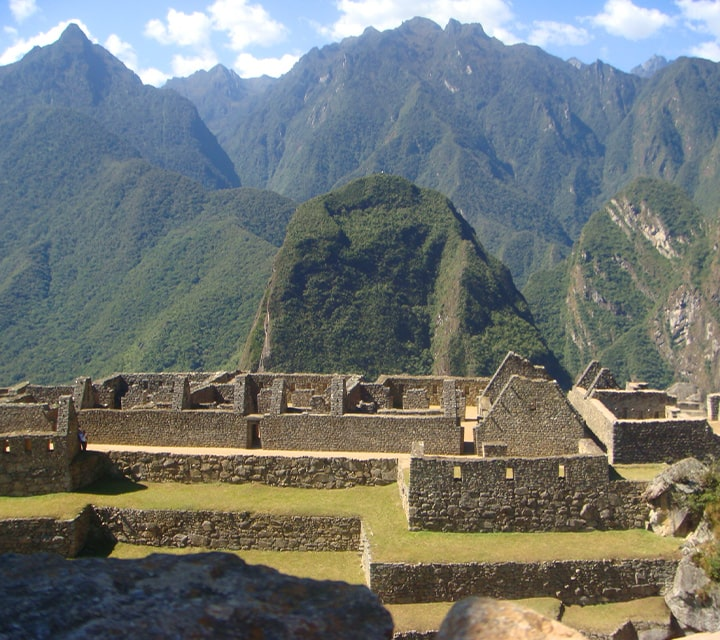 Structures in the Lost City of the Incas, Peru