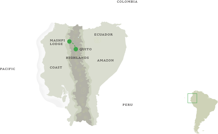 Ecuador Cloud Forest Tour - Map