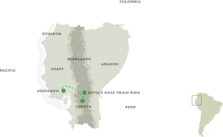 Cuenca & Guayaquil Tour - Map