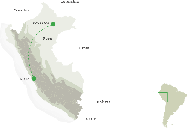 Peru Amazon Cruise Itinerary Map
