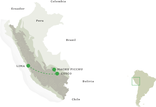 Incan Empire Itinerary Map