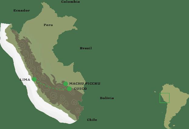 Incan Empire Itinerary Map