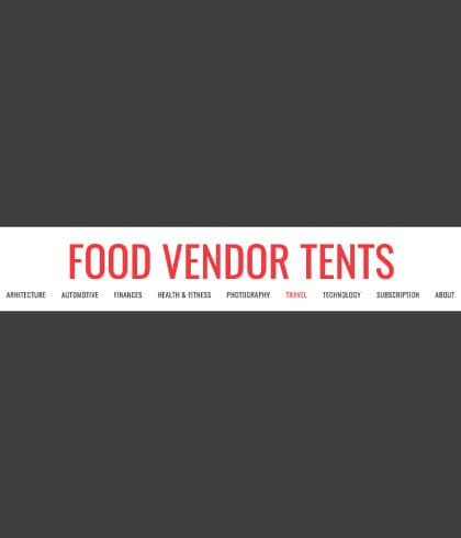 Food Vendor Tents