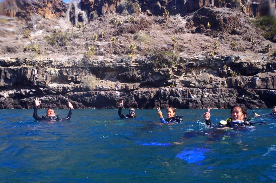 Swimming in the Galapagos