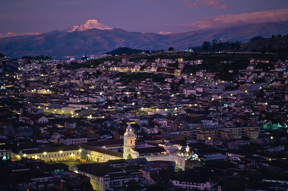 Colonial Quito Ecuador with Cayambe
