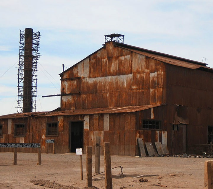 Humberstone and Santa Laura Saltpeter Works in Chile