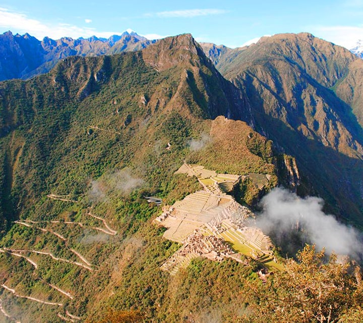 Qhapaq Nan, the Ancient Andean Road System, atop the Andes mountain ranges in Chile