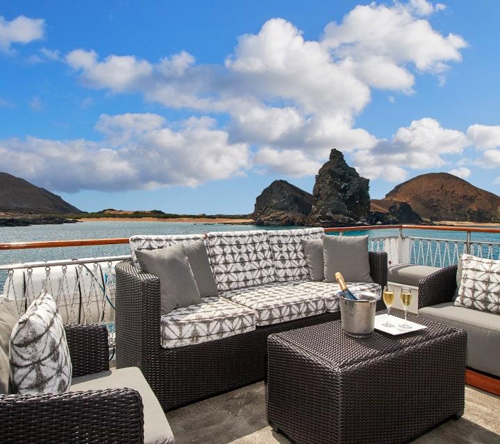 Grace yacht sun deck lounge