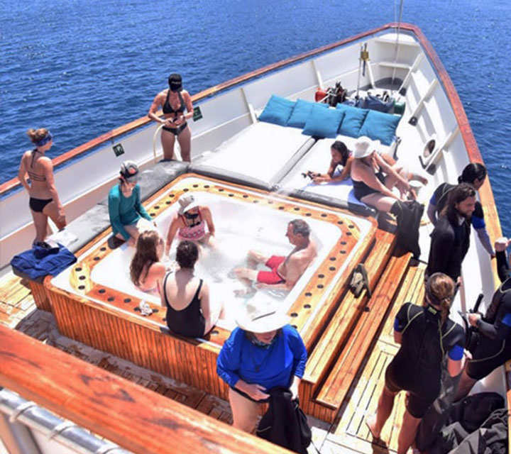 Post snorkeling excursion on Grace yacht