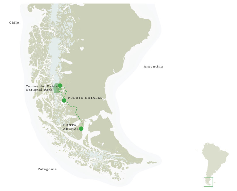 Patagonia Wild Safari Itinerary Map