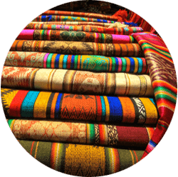 Explore a traditional Andean market
