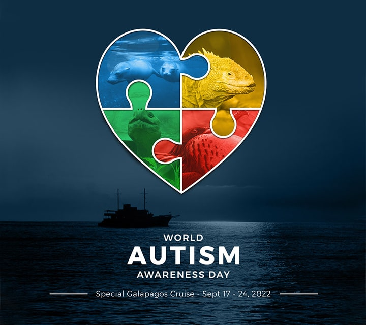 Announcent on World Autism Awareness Day 2021 for a Special Galapagos Autism Cruise Departure in 2022